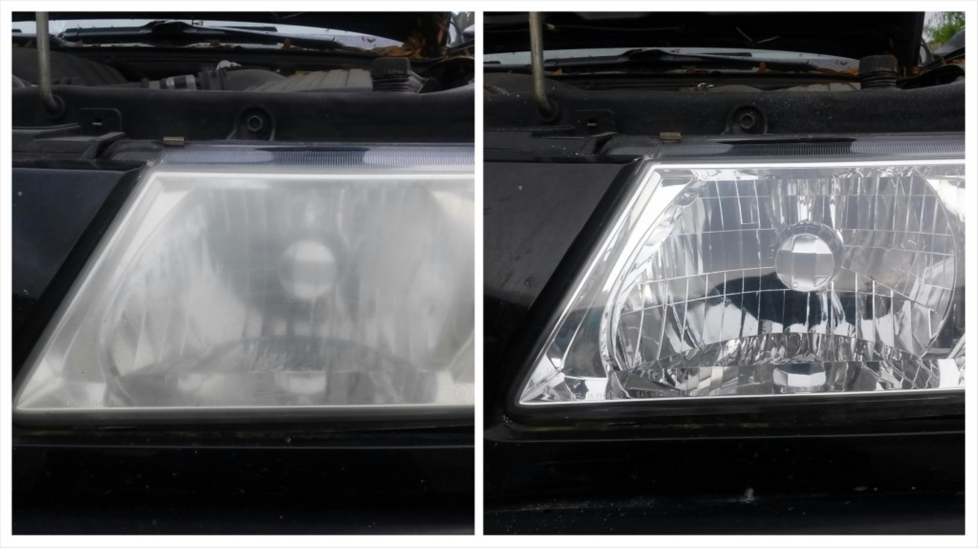 how to clean oxidized headlights with vinegar